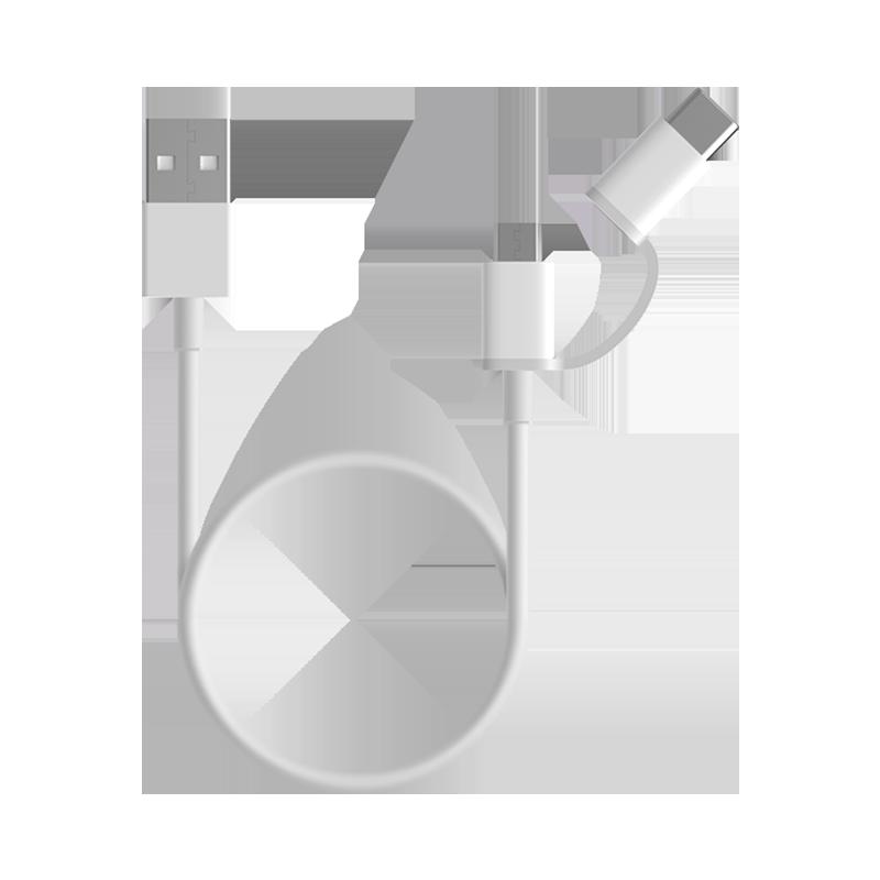 Mi 2-in-1 USB Cable Micro USB to Type C (100cm)